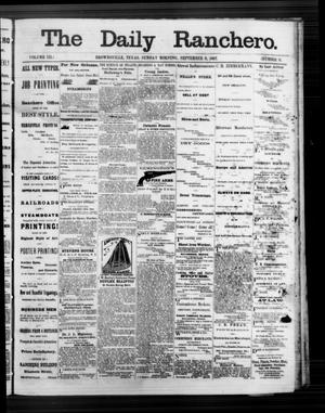 Primary view of object titled 'The Daily Ranchero. (Brownsville, Tex.), Vol. 3, No. 11, Ed. 1 Sunday, September 8, 1867'.