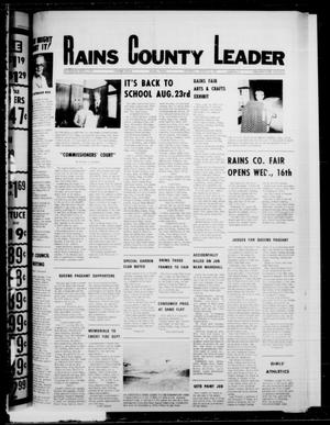 Primary view of object titled 'Rains County Leader (Emory, Tex.), Vol. 91, No. 11, Ed. 1 Thursday, August 17, 1978'.