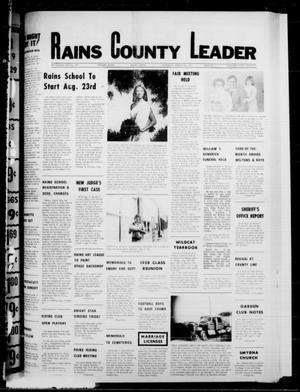 Primary view of object titled 'Rains County Leader (Emory, Tex.), Vol. 91, No. 10, Ed. 1 Thursday, August 10, 1978'.