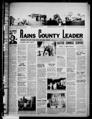 Primary view of object titled 'Rains County Leader (Emory, Tex.), Vol. 87, No. 42, Ed. 1 Thursday, March 27, 1975'.