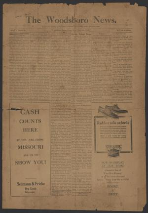 Primary view of object titled 'The Woodsboro News. (Woodsboro, Tex.), Vol. 3, No. 46, Ed. 1 Friday, September 8, 1916'.