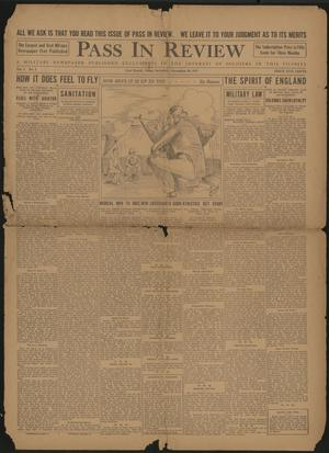 Primary view of object titled 'Pass In Review (Fort Worth, Tex.), Vol. 1, No. 2, Ed. 1 Saturday, November 10, 1917'.