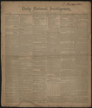 Daily National Intelligencer. (Washington [D.C.]), Vol. 25, No. 7701, Ed. 1 Wednesday, October 18, 1837