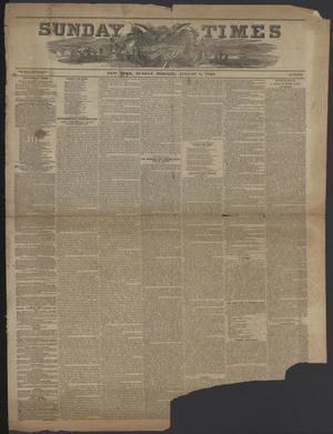 Sunday Times and Noah's Weekly Messenger (New York [N.Y.]), Vol. 9, No. 19, Ed. 1 Sunday, August 5, 1849