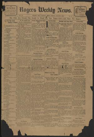 Rogers Weekly News. (Rogers, Tex.), Vol. 20, No. 21, Ed. 1 Friday, August 2, 1912