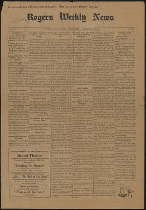 Rogers Weekly News (Rogers, Tex.), Vol. 37, No. 15, Ed. 1 Friday, September 20, 1929