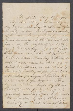 Primary view of {Letter to Mary Fisher, from Orceneth Asbury Fisher]