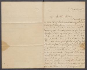 Primary view of object titled '[Letter to Brother Fisher, from E.A. Simons]'.