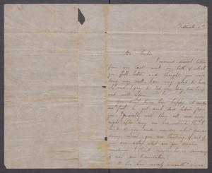 Primary view of object titled '[Letter to Mr. Fisher, from Mollie S.]'.