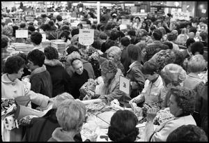 [Photograph of Crowd at White Elephant Sale at McClurkan's]
