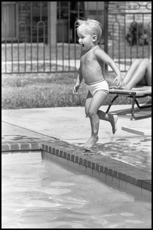 3 year old girl in swimwear