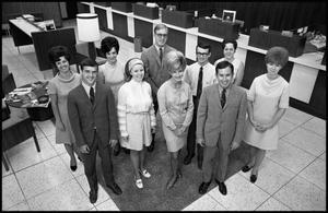 [Photograph of Southwest National Bank employees]