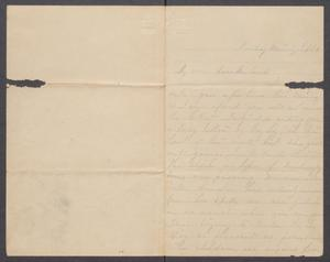 Primary view of object titled '[Letter to Orceneth Asbury Fisher from Mary Fisher]'.