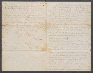 Primary view of object titled '[Letter to Asbury, from O. Fisher]'.