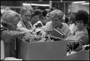 [Photograph of White Elephant Sale at McClurkan's Department Store]