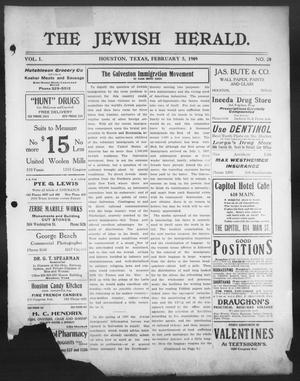 The Jewish Herald (Houston, Tex.), Vol. 1, No. 20, Ed. 1, Friday, February 5, 1909
