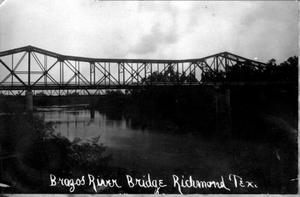 Primary view of object titled '[Photograph of the Brazos River Bridge in Richmond, Texas]'.