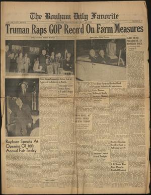 The Bonham Daily Favorite (Bonham, Tex.), Vol. 57, No. 58, Ed. 1 Tuesday, September 28, 1948