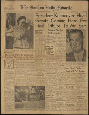 The Bonham Daily Favorite (Bonham, Tex.), Vol. 69, No. 76, Ed. 1 Friday, November 17, 1961