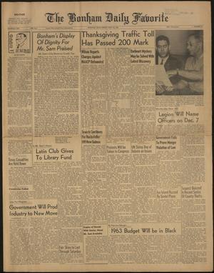 The Bonham Daily Favorite (Bonham, Tex.), Vol. 69, No. 81, Ed. 1 Friday, November 24, 1961