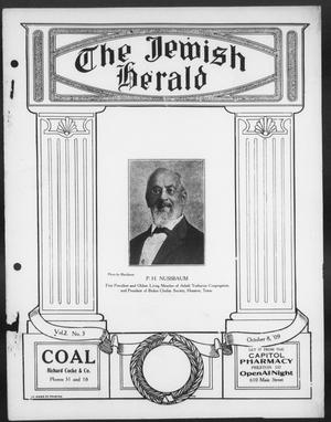 Primary view of The Jewish Herald (Houston, Tex.), Vol. 2, No. 3, Ed. 1, Friday, October 8, 1909