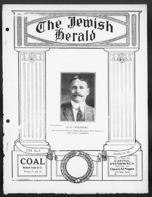 Primary view of The Jewish Herald (Houston, Tex.), Vol. 2, No. 4, Ed. 1, Friday, October 15, 1909
