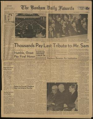The Bonham Daily Favorite (Bonham, Tex.), Vol. 69, No. 77, Ed. 1 Sunday, November 19, 1961