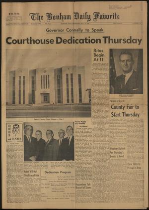 The Bonham Daily Favorite (Bonham, Tex.), Vol. 74, No. 48, Ed. 1 Wednesday, October 19, 1966