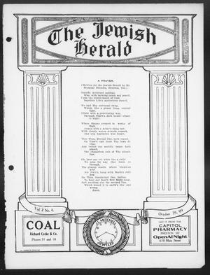 Primary view of The Jewish Herald (Houston, Tex.), Vol. 2, No. 6, Ed. 1, Friday, October 29, 1909