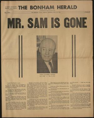 The Bonham Herald (Bonham, Tex.), Vol. 33, No. 19, Ed. 1 Thursday, November 23, 1961