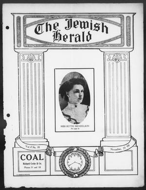 Primary view of The Jewish Herald (Houston, Tex.), Vol. 2, No. 10, Ed. 1, Thursday, November 25, 1909