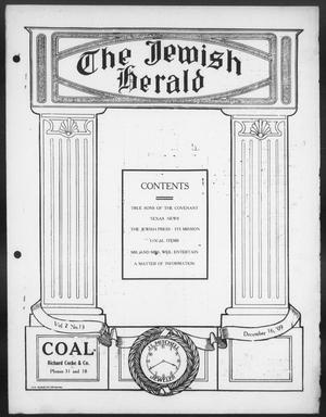 Primary view of The Jewish Herald (Houston, Tex.), Vol. 2, No. 13, Ed. 1, Thursday, December 16, 1909