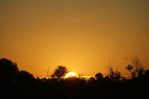Primary view of object titled 'Sunset South of Paris,Texas'.