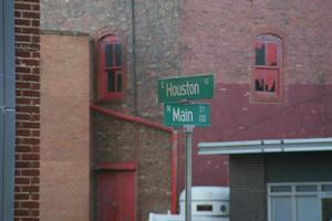 Primary view of object titled 'Downtown Street Signs in Paris, Texas'.