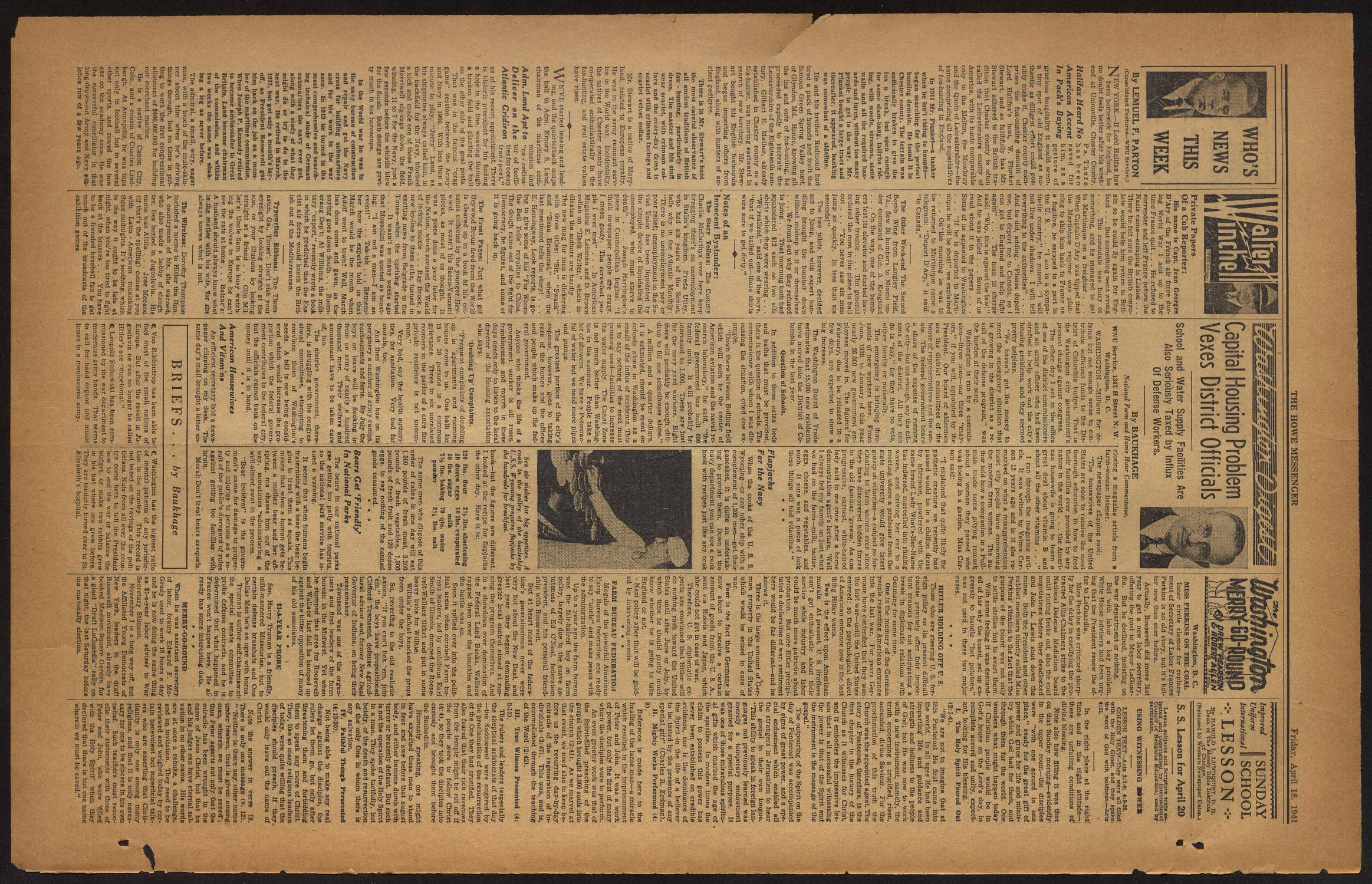 The Howe Messenger (Howe, Tex.), Vol. 18, No. 13, Ed. 1 Friday, April 18, 1941                                                                                                      [Sequence #]: 2 of 8