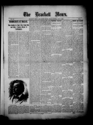 Primary view of object titled 'The Brackett News. (Brackett (Fort Clark), Tex.), Vol. 20, No. 5, Ed. 1 Saturday, October 7, 1899'.