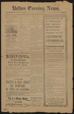 Belton Evening News. (Belton, Tex.), Vol. 18, No. 101, Ed. 1 Monday, September 8, 1902