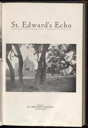 Primary view of object titled 'St. Edward's Echo (Austin, Tex.), Vol. 1, No. 2, Ed. 1, December 1919'.