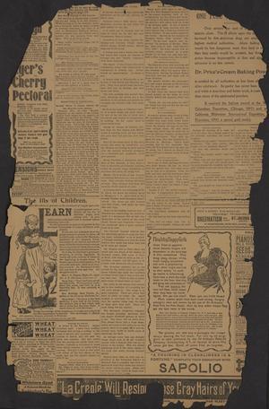 Cherokee County Banner. (Jacksonville, Tex.), Vol. [11], No. [33], Ed. 1 Friday, January 6, 1899