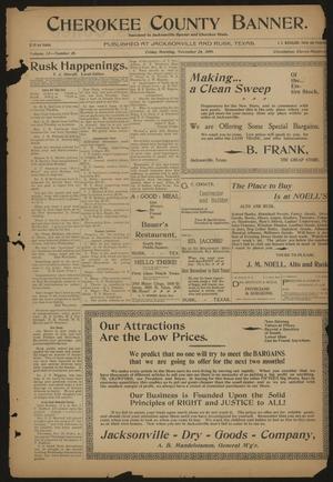 Cherokee County Banner. (Jacksonville, Tex.), Vol. 12, No. 26, Ed. 1 Friday, November 24, 1899