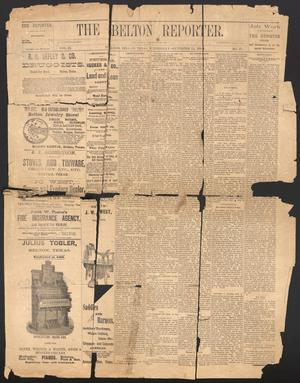 Primary view of object titled 'The Belton Reporter. (Belton, Tex.), Vol. 3, No. 37, Ed. 1 Wednesday, September 24, 1884'.