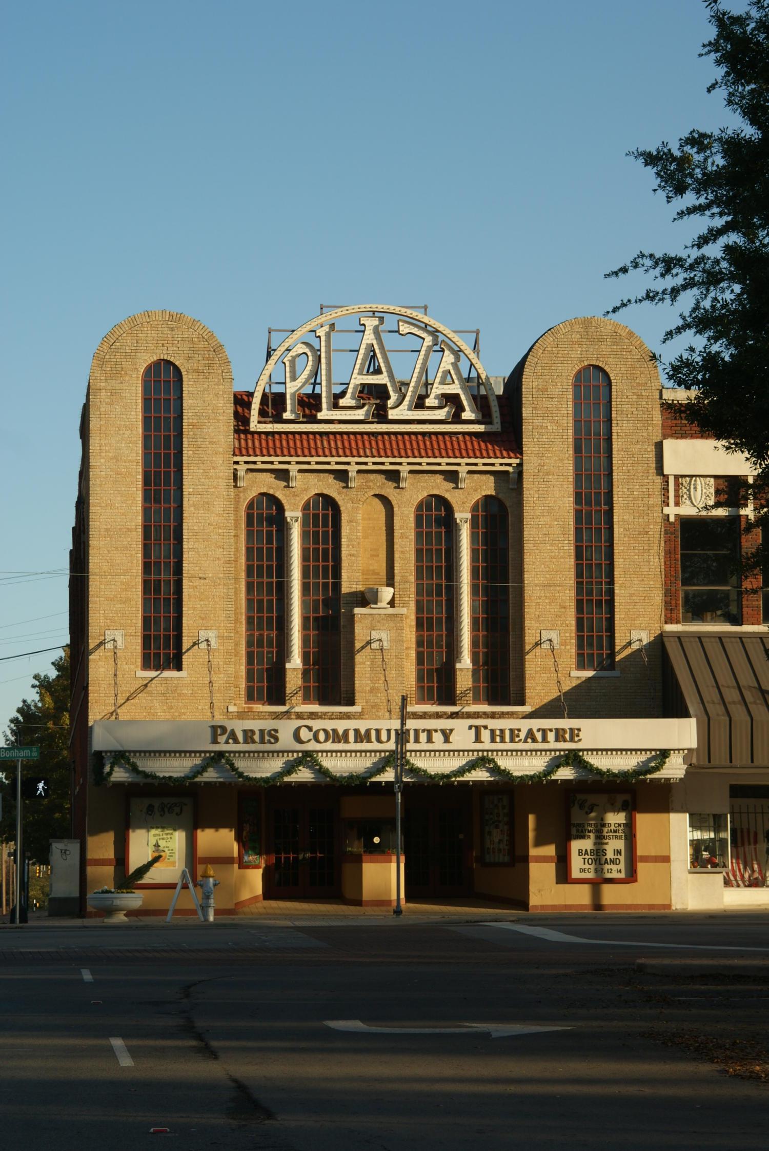 Paris Texas Plaza Theater The Portal To Texas History