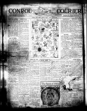 Primary view of object titled 'Conroe Courier (Conroe, Tex.), Vol. 30, No. 52, Ed. 1 Friday, December 29, 1922'.