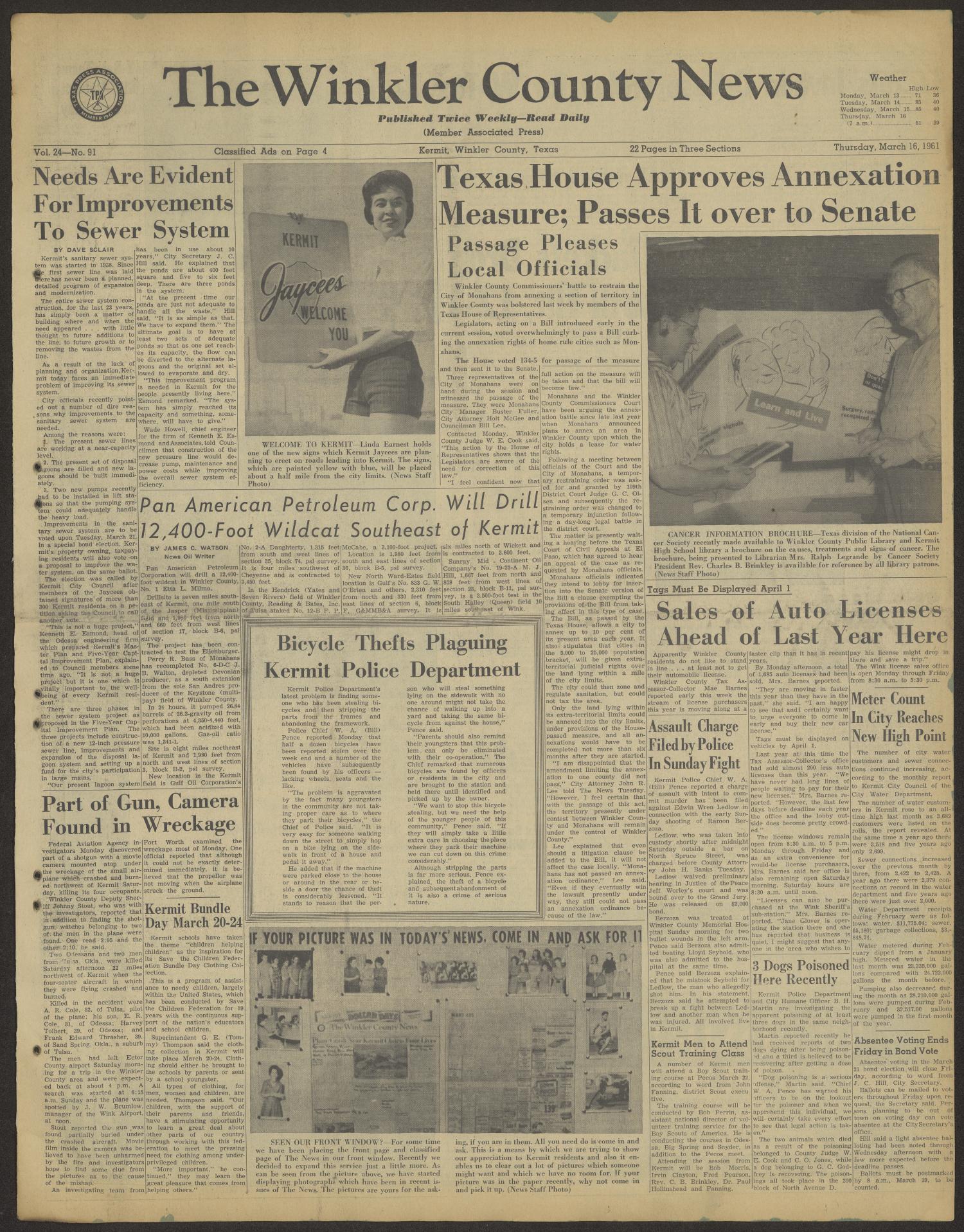 on 1 16 1961