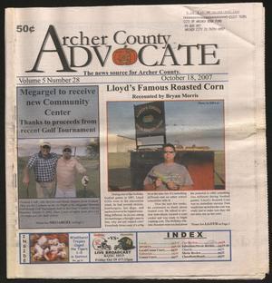 Archer County Advocate (Holliday, Tex.), Vol. 5, No. 28, Ed. 1 Thursday, October 18, 2007