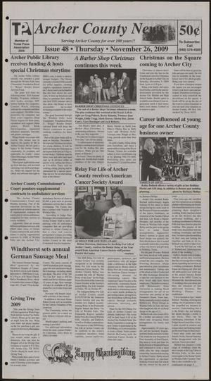 Archer County News (Archer City, Tex.), No. 48, Ed. 1 Thursday, November 26, 2009