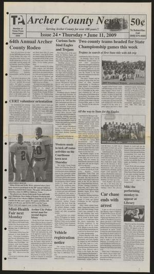 Archer County News (Archer City, Tex.), No. 24, Ed. 1 Thursday, June 11, 2009