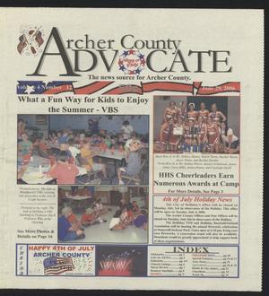 Archer County Advocate (Holliday, Tex.), Vol. 4, No. 12, Ed. 1 Thursday, June 29, 2006