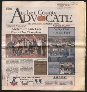 Archer County Advocate (Holliday, Tex.), Vol. 5, No. 29, Ed. 1 Thursday, October 25, 2007