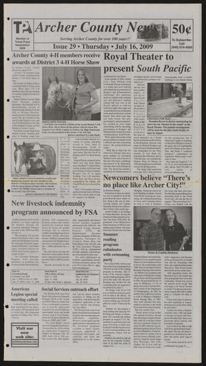 Archer County News (Archer City, Tex.), No. 29, Ed. 1 Thursday, July 16, 2009